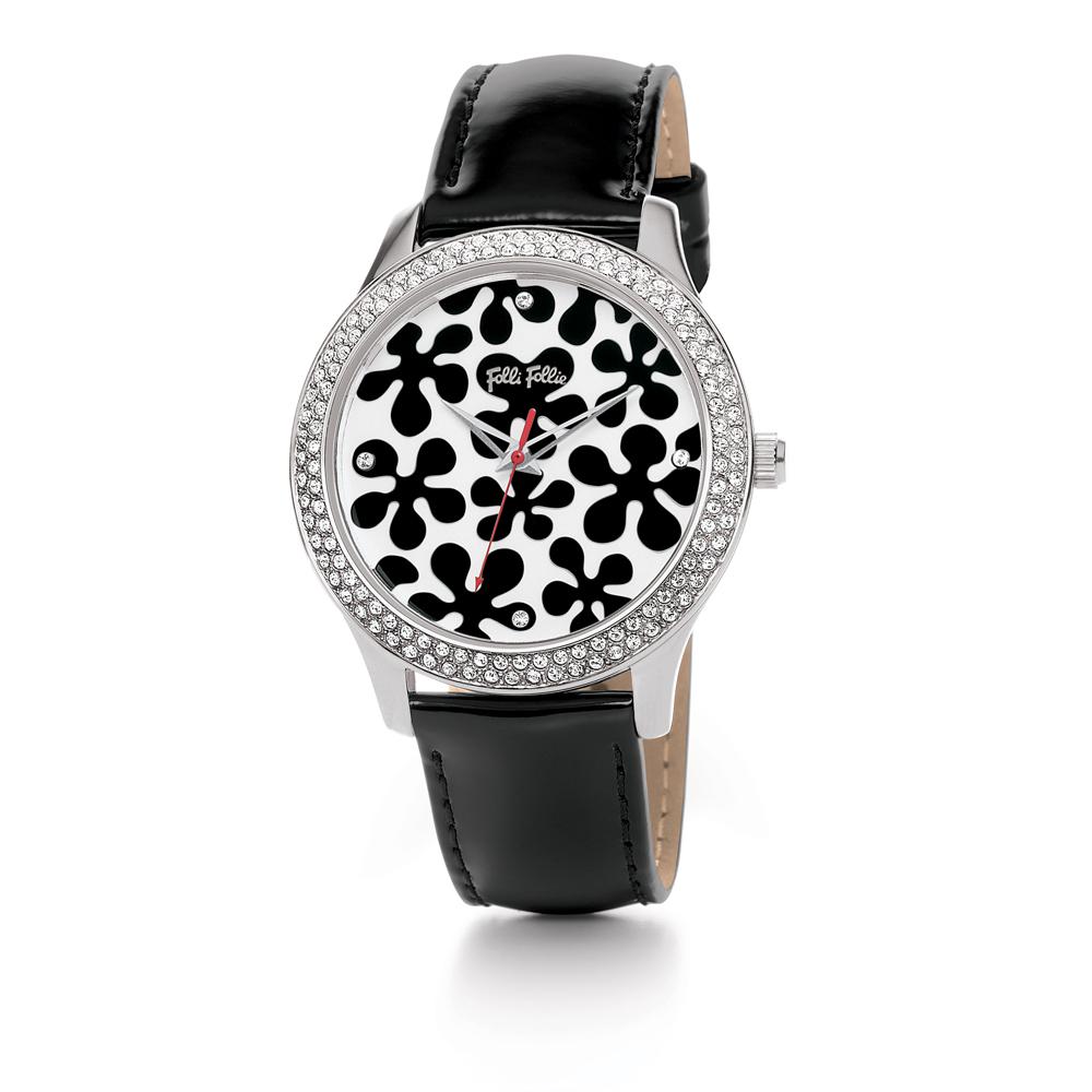FOLLI FOLLIE - Γυναικείο ρολόι Folli Follie HAPPY NYGGET με δερμάτινο λουράκι κα γυναικεία αξεσουάρ ρολόγια δερμάτινα