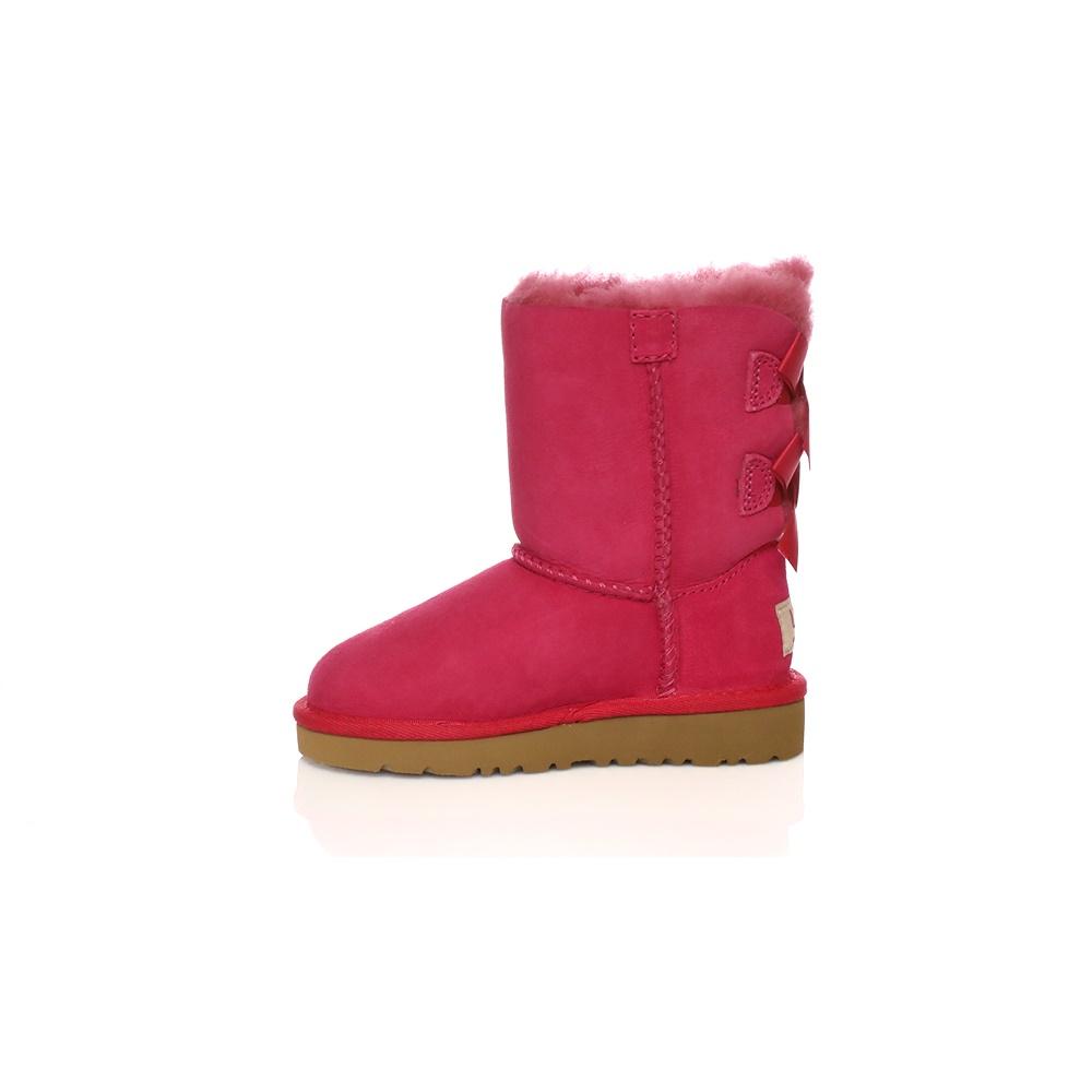 UGG – Βρεφικές μπότες Ugg φούξια με φιόγκους