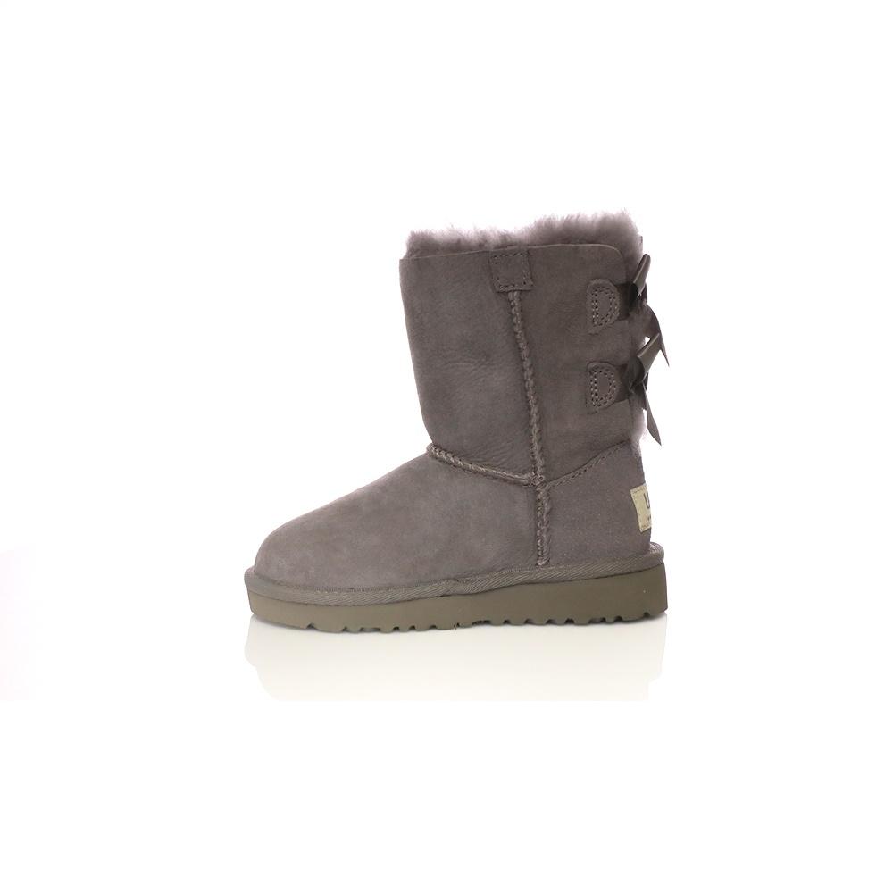 UGG – Βρεφικές μπότες Ugg γκρι με φιόγκους