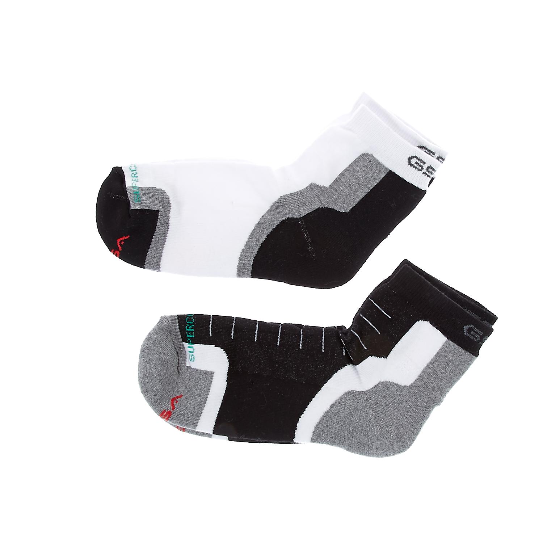 GSA - Ανδρικό σετ κάλτσες GSA GEPA μαύρες-γκρι-λευκές ανδρικά αξεσουάρ κάλτσες