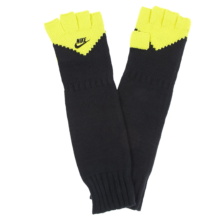 NIKE - Γάντια Nike μαύρα-κίτρινα γυναικεία αξεσουάρ φουλάρια κασκόλ γάντια