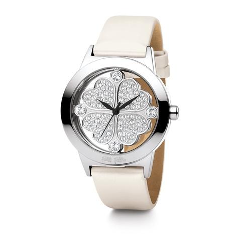 3261c71ea9 Γυναικείο ρολόι Folli Follie HEART 4 HEART με δερμάτινο λουράκι λευκό  (1051373.0-0091)