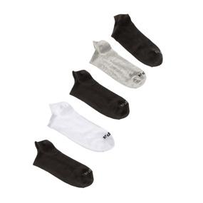 GSA. Σετ από 5 ανδρικές κοντές κάλτσες JEPA μαύρες-λευκές-γκρι d7d6909df24
