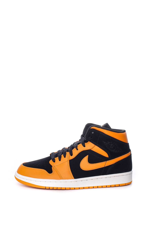 NIKE - Ανδρικά παπούτσια Nike AIR JORDAN 1 MID πορτοκαλί-μαύρα ανδρικά παπούτσια αθλητικά basketball