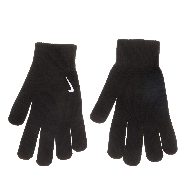 NIKE ACCESSORIES - Unisex γάντια Nike SWOOSH μαύρα ανδρικά αξεσουάρ φουλάρια κασκόλ γάντια