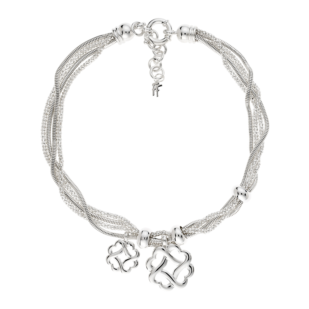 FOLLI FOLLIE - Επάργυγο κολιέ Folli Follie VΙNTAGE με αλυσίδες και κραμαστά μοτί γυναικεία αξεσουάρ κοσμήματα κολιέ