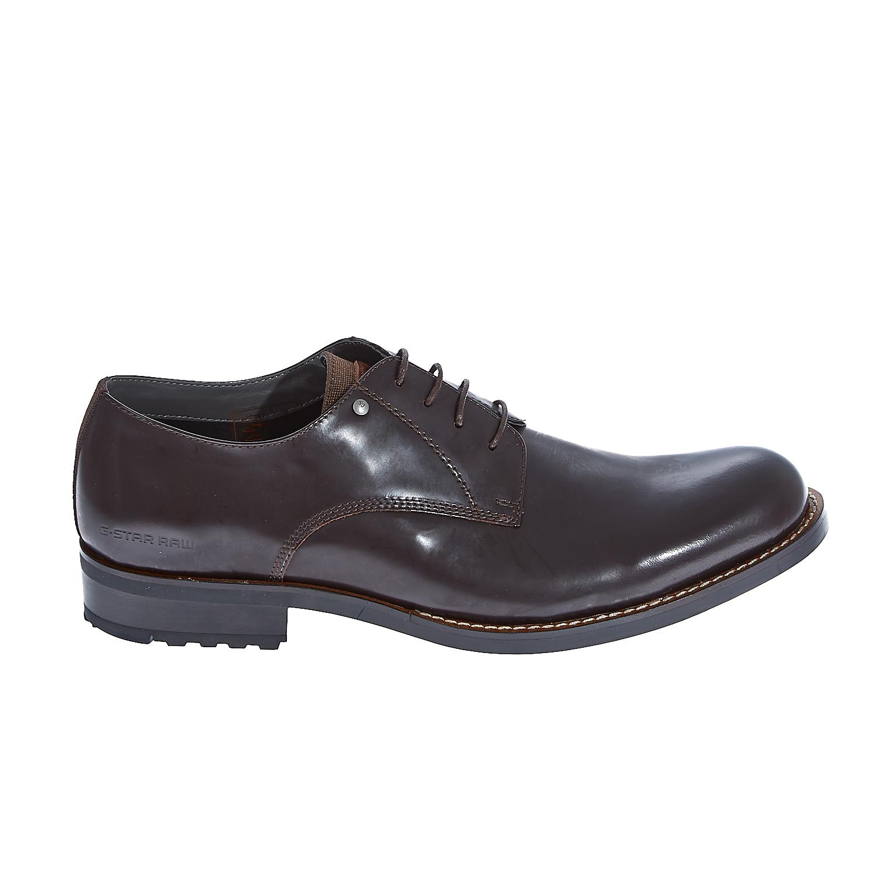 "G-STAR RAW - Ανδρικά παπούτσια ""Manor Dryden Shine"" καφέ ανδρικά παπούτσια μοκασίνια loafers"