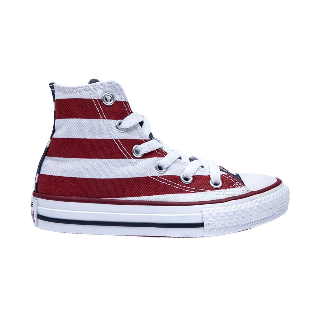 CONVERSE – Παιδικά παπούτσια Chuck Taylor κόκκινα-λευκά
