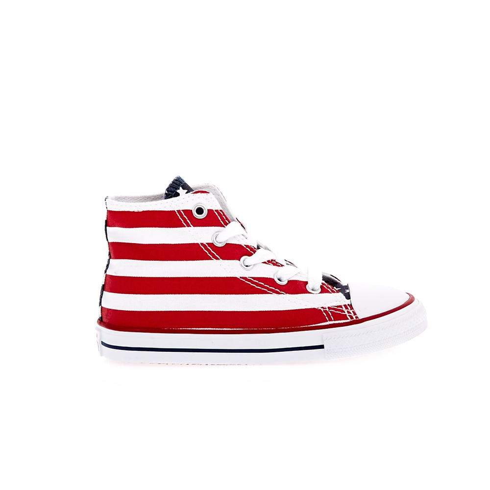 8c5e4e2fbcf -36% Factory Outlet CONVERSE – Βρεφικά μποτάκια Chuck Taylor All Star Print  Hi λευκά-κόκκινα