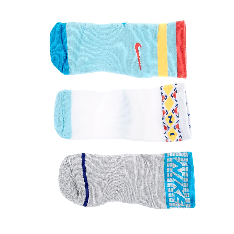 NIKE - Βρεφικό σετ κάλτσες Nike λευκές,γαλάζιες,γκρι παιδικά baby αξεσουάρ κάλτσες