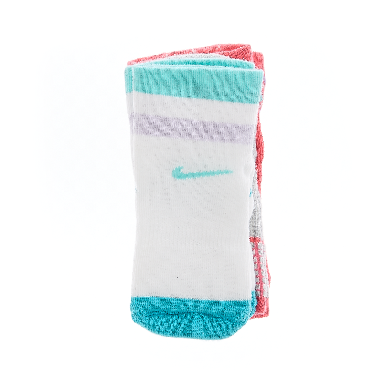 NIKE - Βρεφικό σετ κάλτσες Nike λευκές,φούξια,γκρι παιδικά baby αξεσουάρ κάλτσες