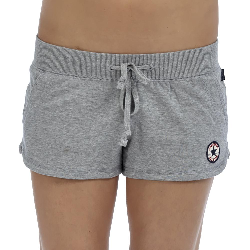 CONVERSE - Γυναικείο σορτς Converse γκρι γυναικεία ρούχα σορτς βερμούδες αθλητικά