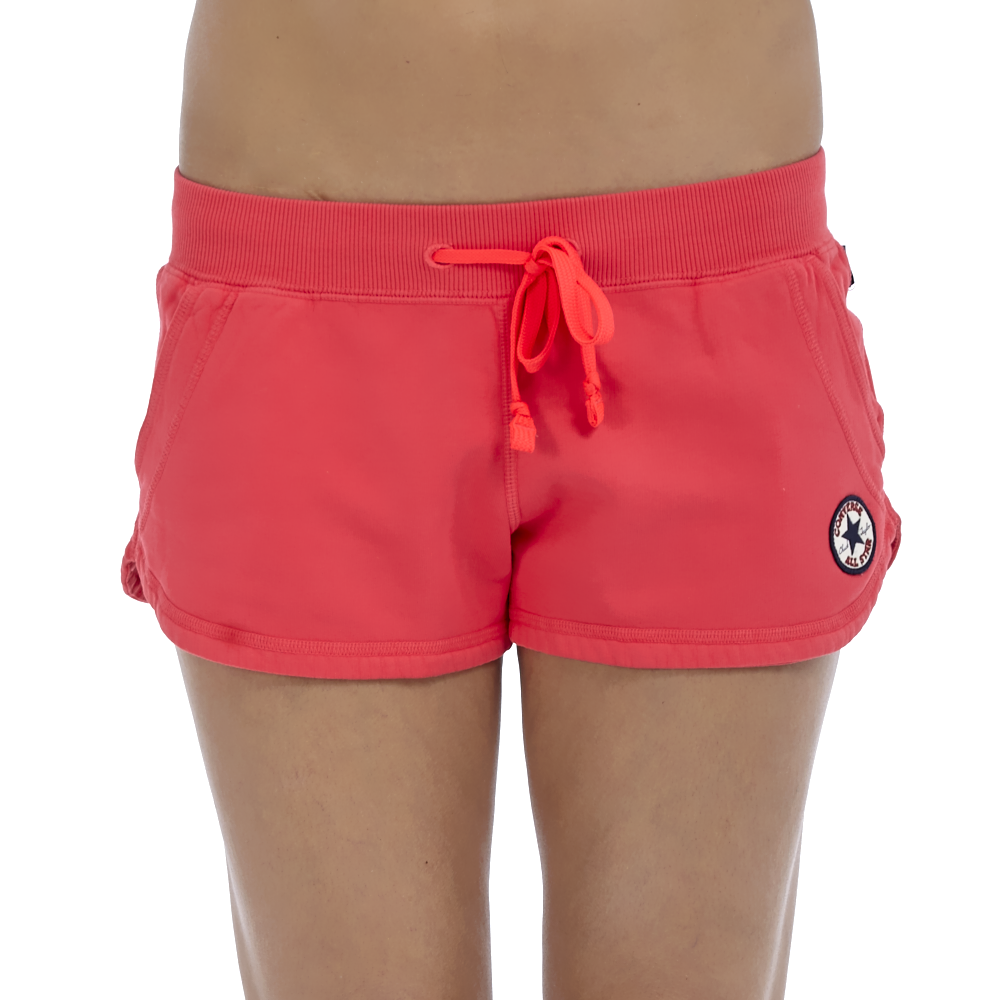 CONVERSE - Γυναικείο σορτς Converse φούξια γυναικεία ρούχα σορτς βερμούδες αθλητικά