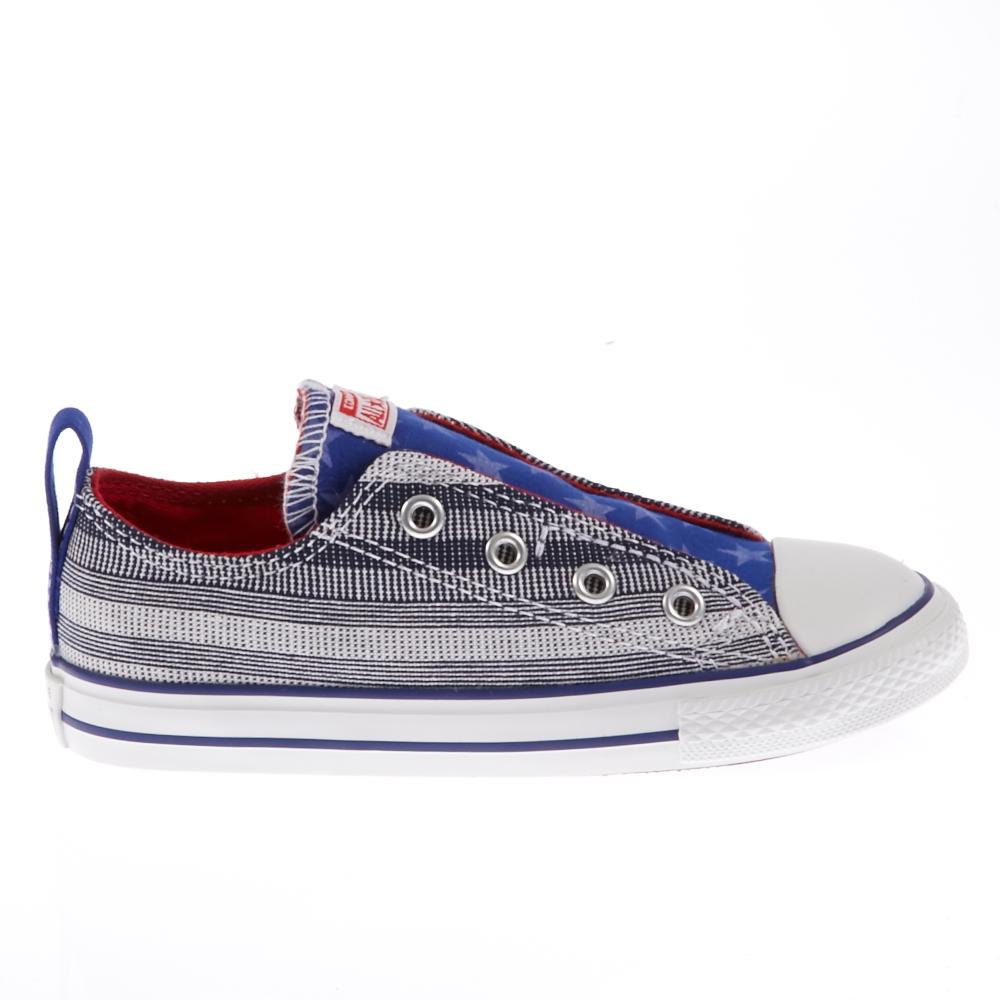 CONVERSE – Βρεφικά παπούτσια Chuck Taylor γκρι-μπλε