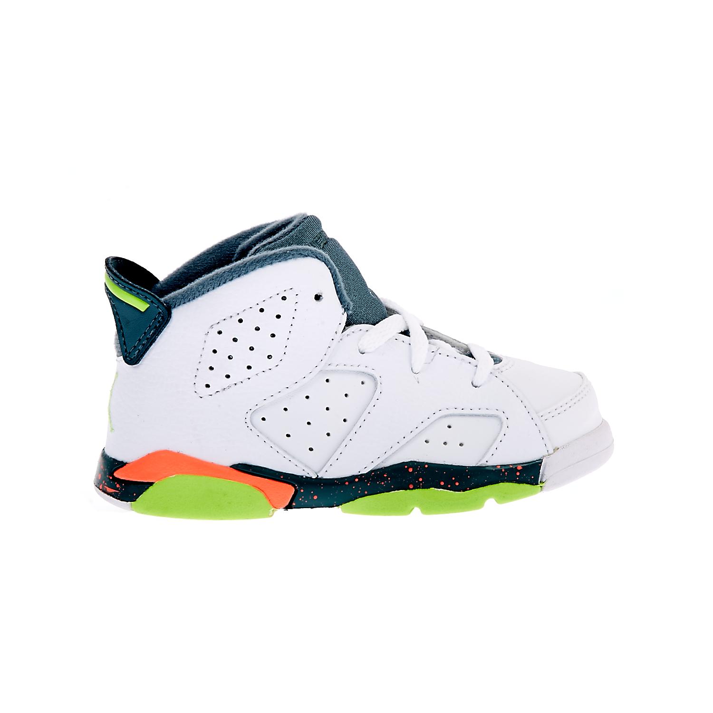 db12aac1092 NIKE - Βρεφικά παπούτσια NIKE AIR JORDAN 6 RETRO λευκά ⋆ OaFashion.gr