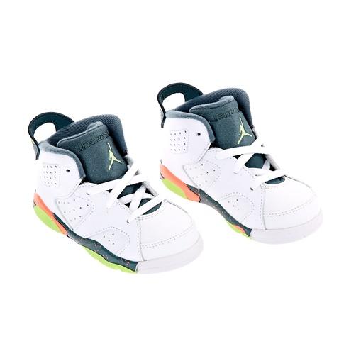 2770372edee Βρεφικά παπούτσια NIKE AIR JORDAN 6 RETRO λευκά (1244931.1-9162 ...