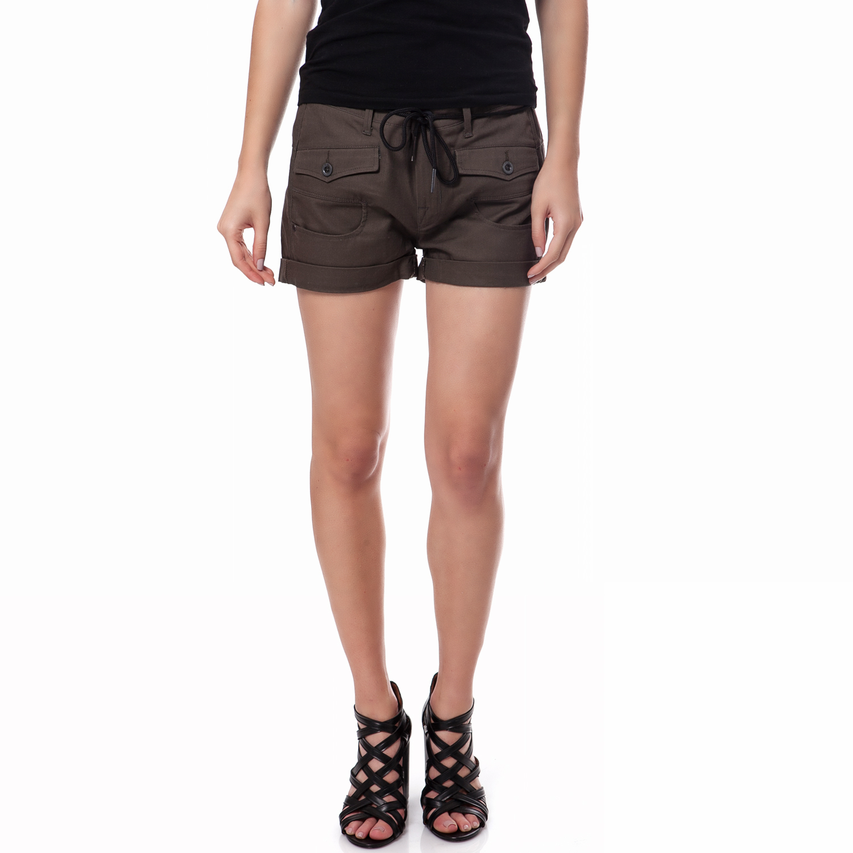 G-STAR RAW - Γυναικείο σορτς G-Star Raw καφέ γυναικεία ρούχα σορτς βερμούδες casual jean