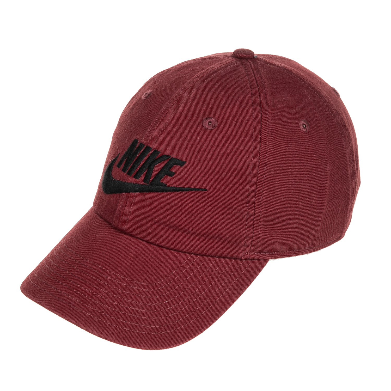 NIKE - Unisex καπέλο jockey NIKE FUTURA WASHED μπορντό γυναικεία αξεσουάρ καπέλα αθλητικά