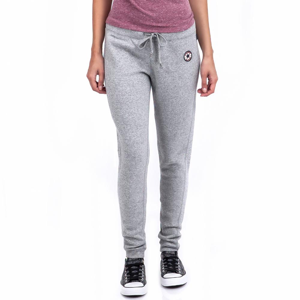 CONVERSE - Γυναικεία φόρμα Converse γκρι sports προπόνηση παντελόνια φόρμας
