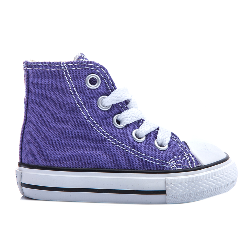 CONVERSE - Βρεφικά μποτάκια Chuck Taylor μωβ παιδικά baby παπούτσια sneakers