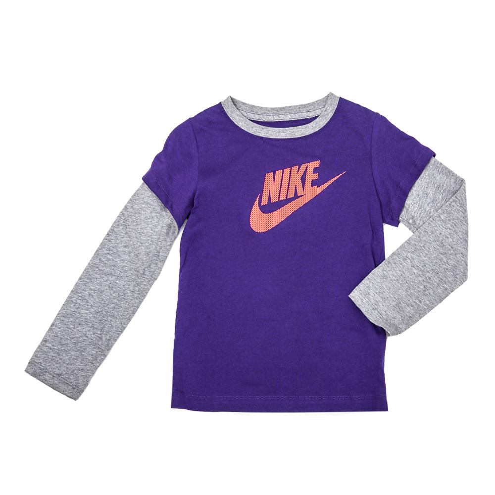 NIKE - Παιδική μπλούζα Nike γκρι-μωβ