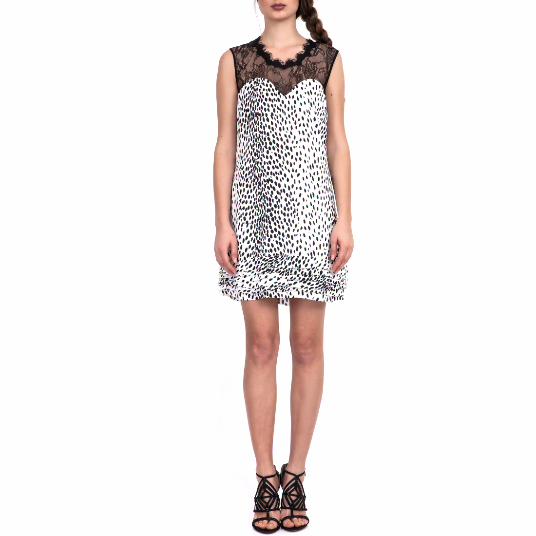 GUESS - Γυναικείο Φόρεμα GUESS Λευκό-Μαύρο