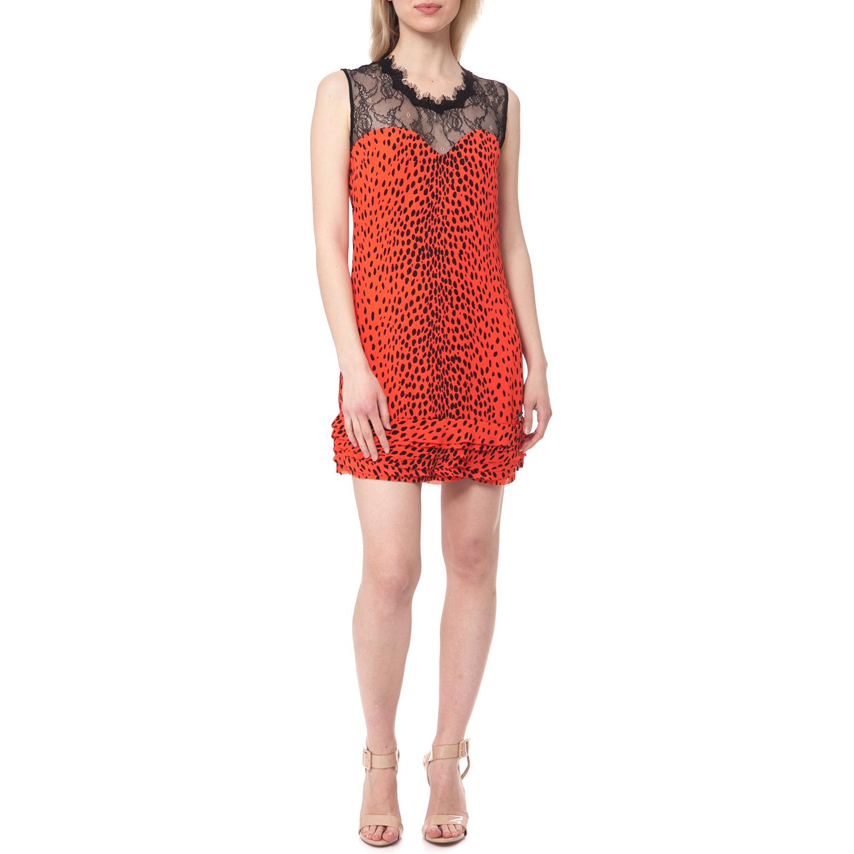 GUESS - Γυναικείο φόρεμα Guess πορτοκαλί γυναικεία ρούχα φορέματα μίνι