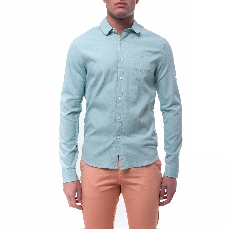 SCOTCH & SODA - Ανδρικό πουκάμισο Scotch & Soda πράσινο ανδρικά ρούχα πουκάμισα μακρυμάνικα