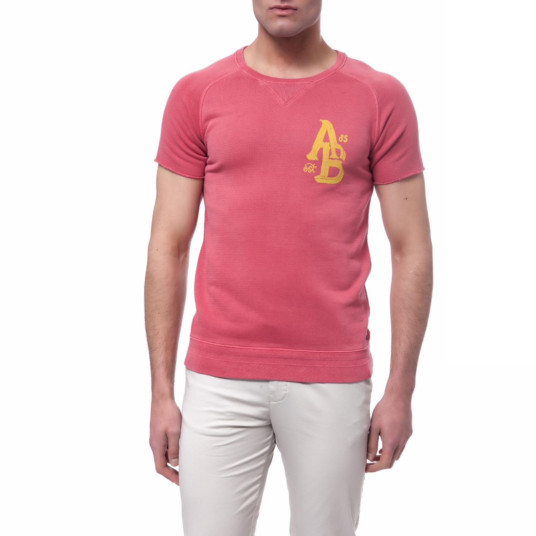 SCOTCH & SODA - Ανδρική μπλούζα Scotch & Soda κοραλί ανδρικά ρούχα μπλούζες κοντομάνικες