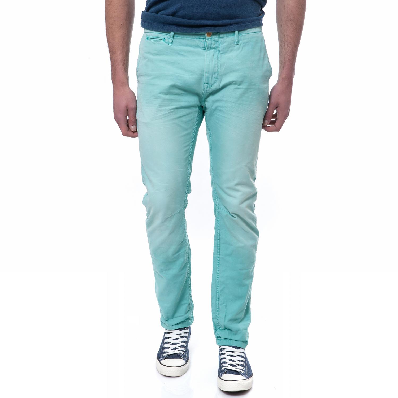 SCOTCH & SODA - Ανδρικό παντελόνι Scotch & Soda τυρκουάζ ανδρικά ρούχα παντελόνια chinos