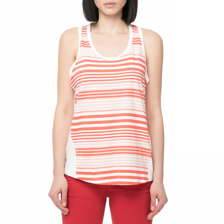 HELLY HANSEN - Γυναικεία αμάνικη μπλούζα HELLY HANSEN NAIAD SINGLET ριγέ λευκό-κ γυναικεία ρούχα μπλούζες αμάνικες