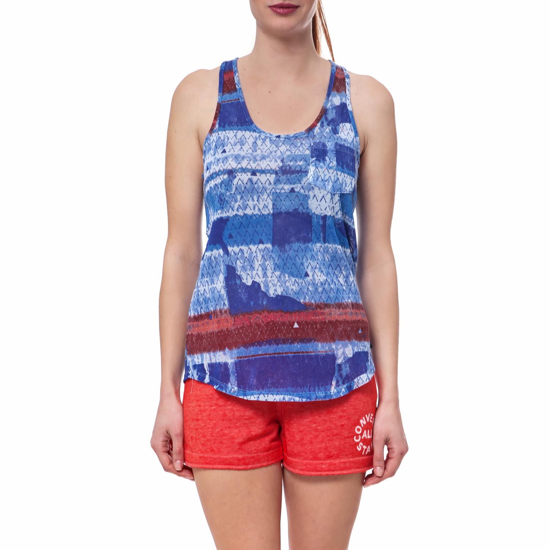 CONVERSE - Γυναικεία μπλούζα Converse μπλε γυναικεία ρούχα αθλητικά t shirt τοπ