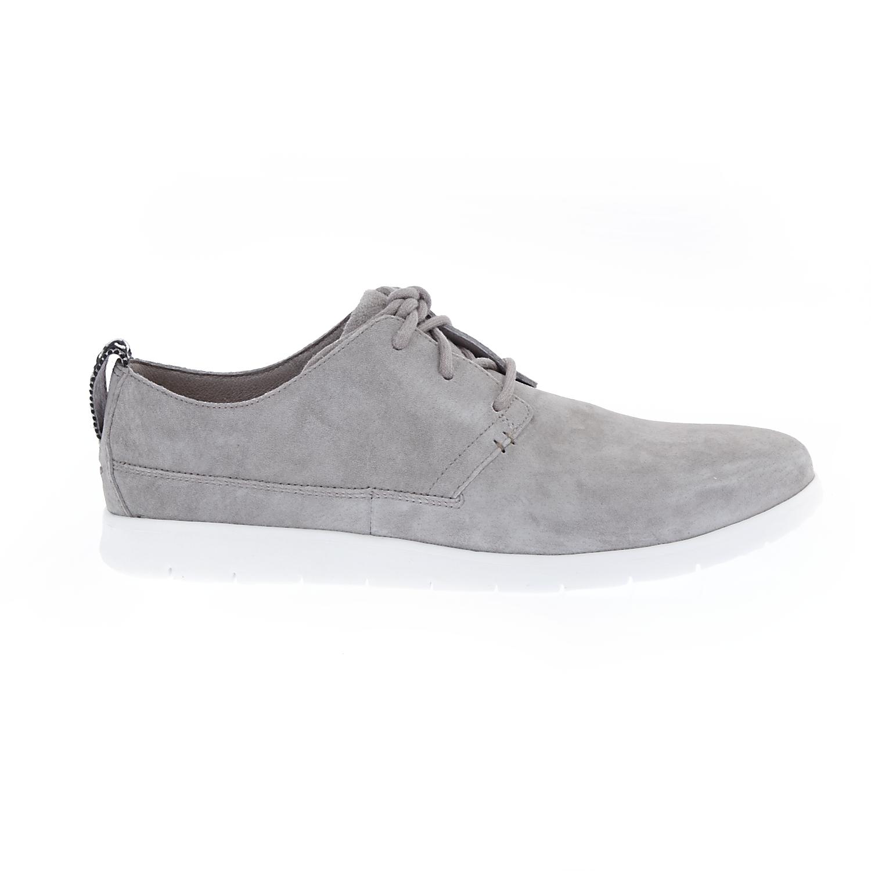UGG - Ανδρικά oxfords UGG BOWMORE σουέντ γκρι ανδρικά παπούτσια δετά casual