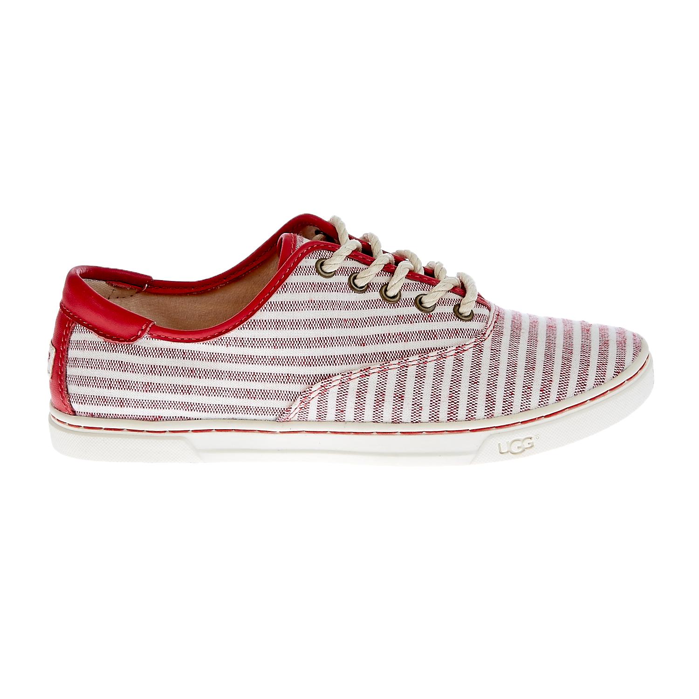UGG - Γυναικεία παπούτσια Ugg Australia κόκκινα-λευκά γυναικεία παπούτσια μοκασίνια μπαλαρίνες μοκασίνια