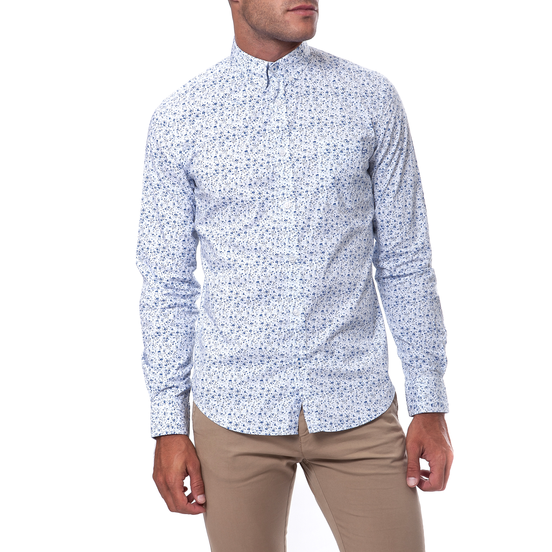 GAS - Ανδρικό πουκάμισο Gas μπλε ανδρικά ρούχα πουκάμισα μακρυμάνικα