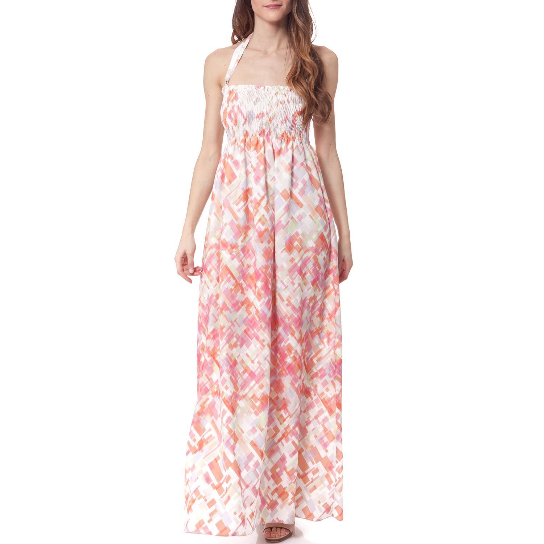 GAS - Γυναικείο φόρεμα Gas εκρού γυναικεία ρούχα φορέματα μάξι