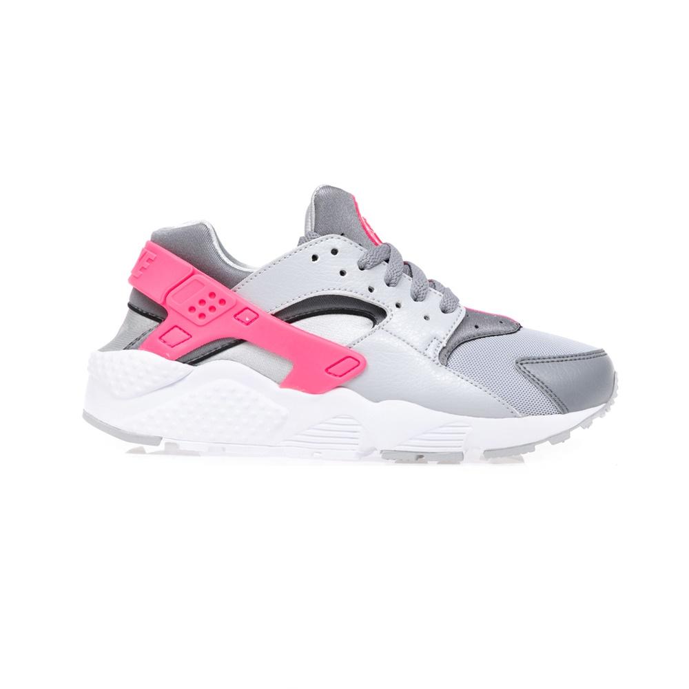 NIKE – Αθλητικά παιδικά παπούτσια NIKE HUARACHE RUN γκρι-ροζ