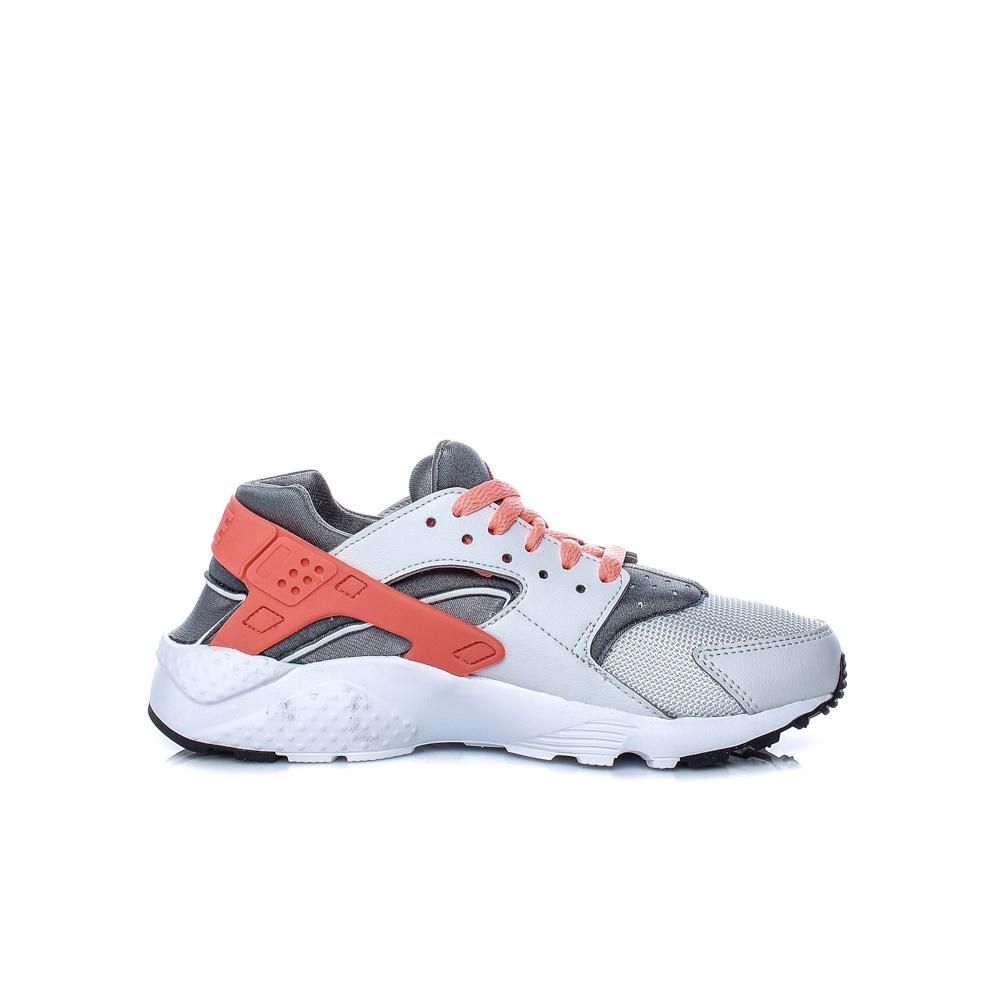 NIKE – Παιδικά αθλητικά παπούτσια NIKE HUARACHE RUN (PS) λευκά – γκρι