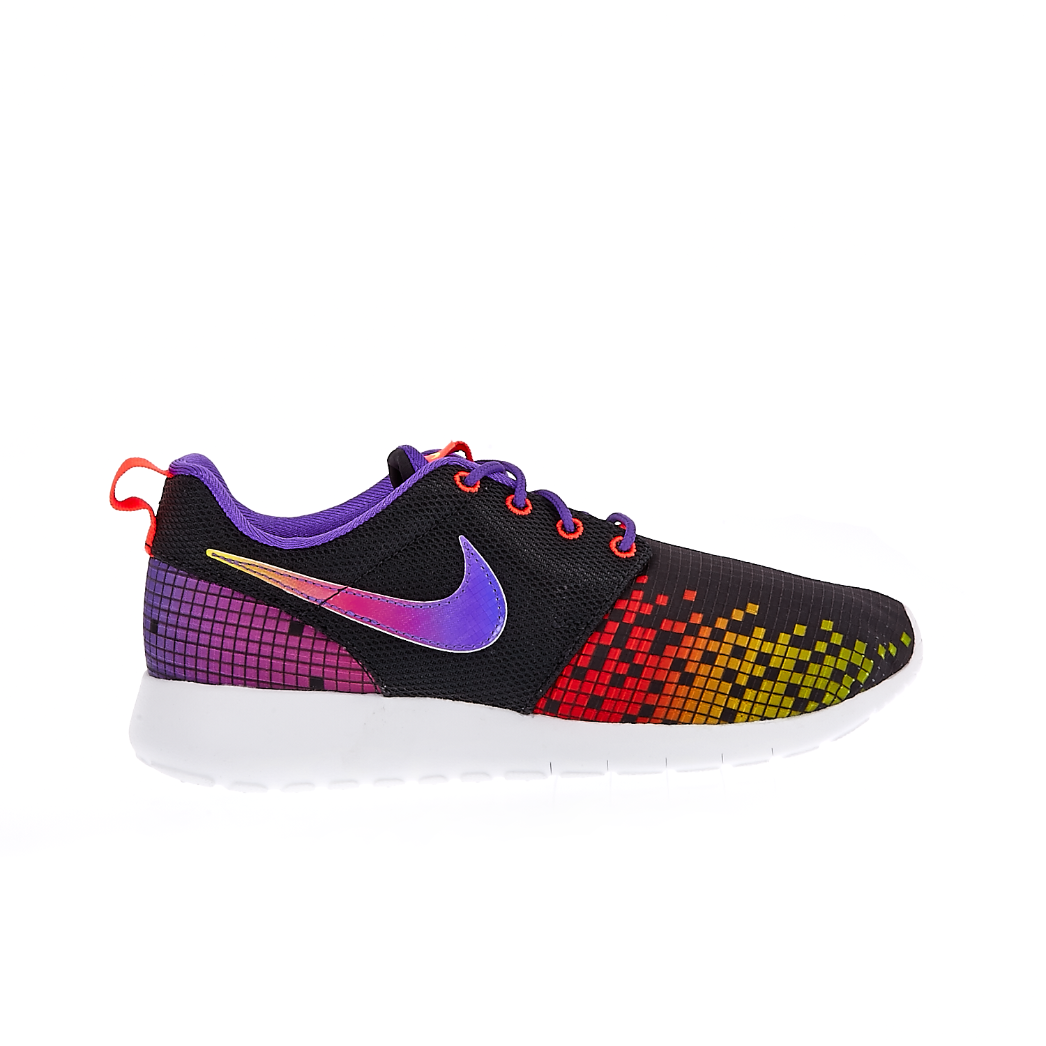 NIKE – Παιδικά αθλητικά παπούτσια NIKE ROSHE ONE PRINT μαύρα εμπριμέ