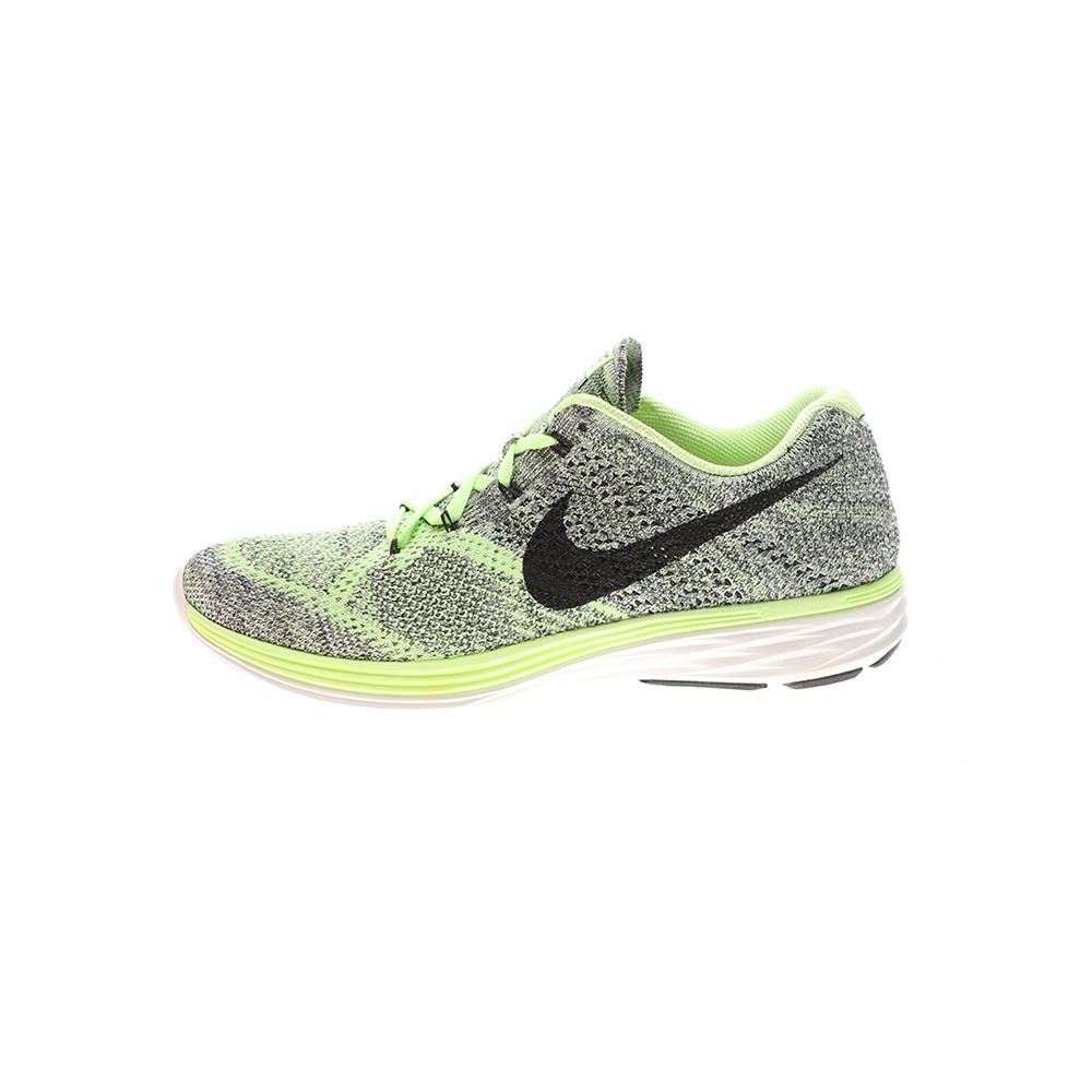 NIKE – Γυναικεία παπούτσια running NIKE FLYKNIT LUNAR3 γκρι πράσινα