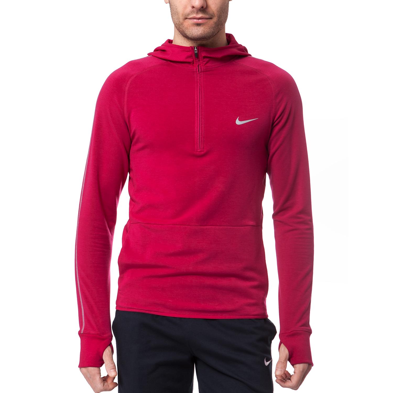 NIKE - Ανδρική μπλούζα Nike κόκκινη ανδρικά ρούχα αθλητικά φούτερ μακρυμάνικα