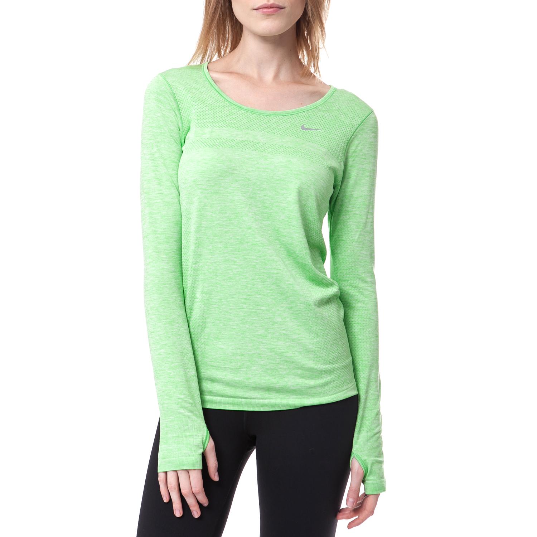 NIKE - Γυναικεία μπλούζα Nike πράσινη γυναικεία ρούχα αθλητικά φούτερ μακρυμάνικα