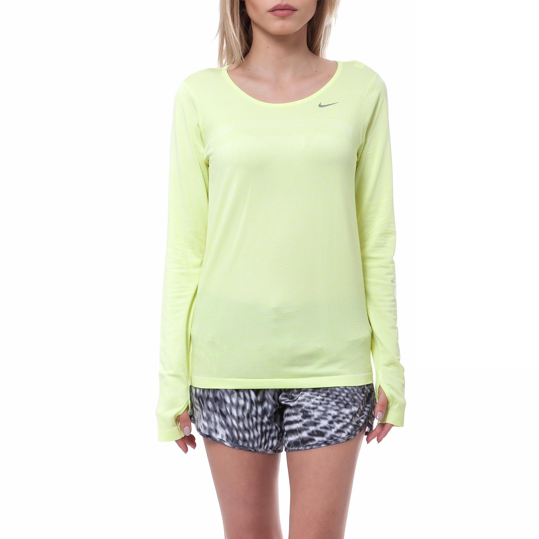 NIKE - Γυναικεία μπλούζα Nike λαχανί γυναικεία ρούχα αθλητικά φούτερ μακρυμάνικα