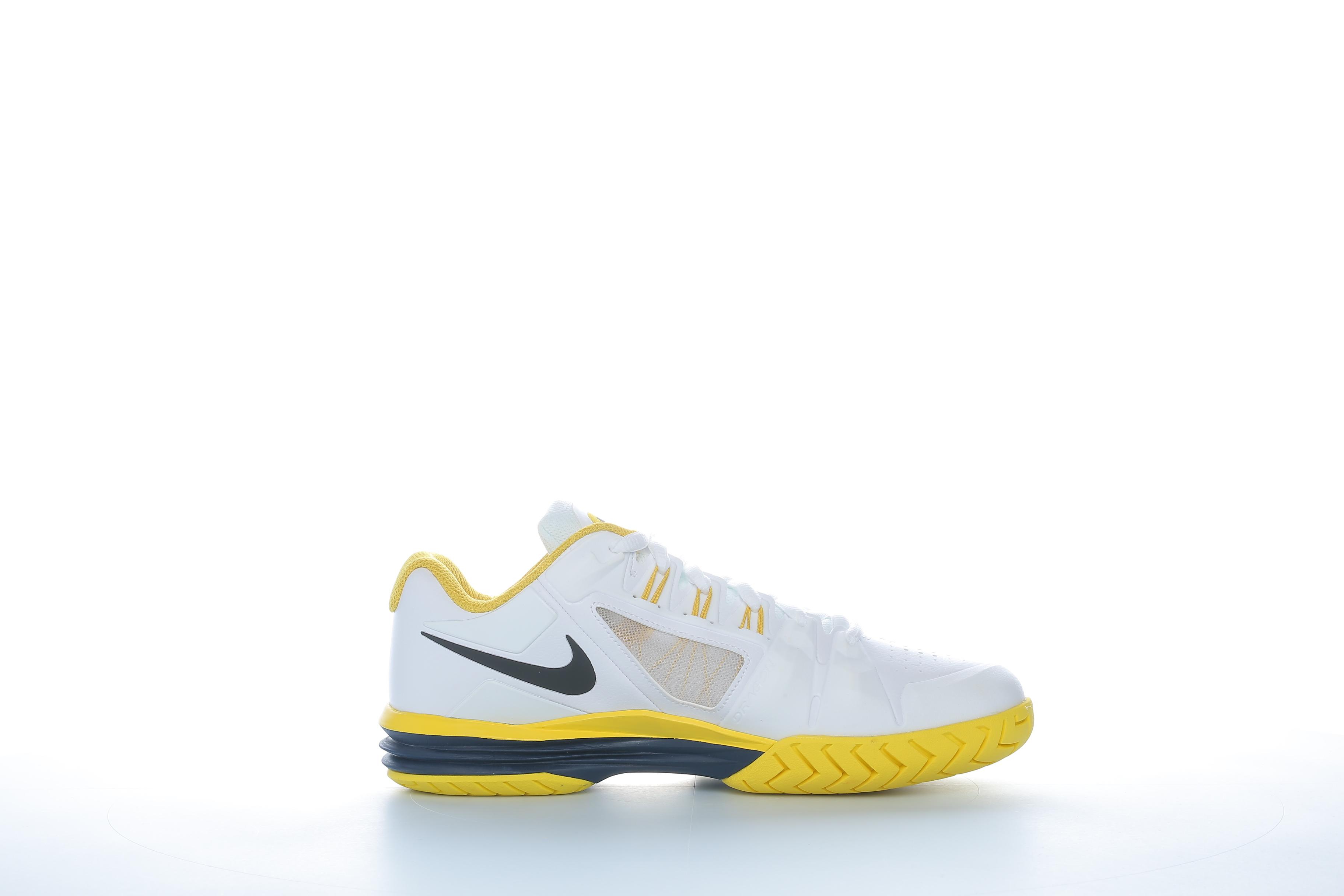 NIKE - Ανδρικά παπούτσια τέννις Nike LUNAR BALLISTEC 1.5 λευκά-κίτρινα ανδρικά παπούτσια αθλητικά tennis