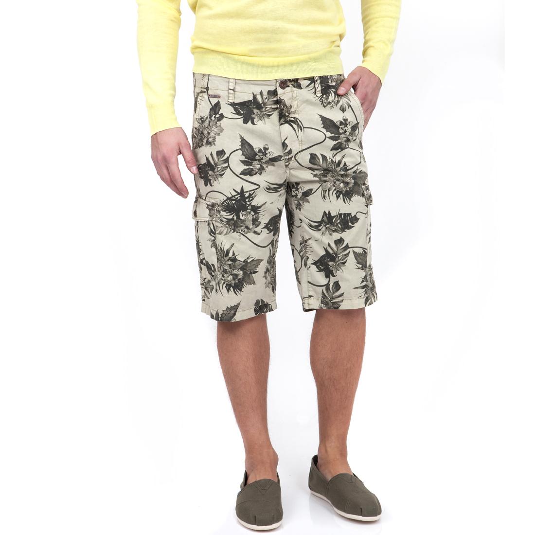 GUESS - Ανδρική βερμούδα GUESS μπεζ ανδρικά ρούχα σορτς βερμούδες casual jean