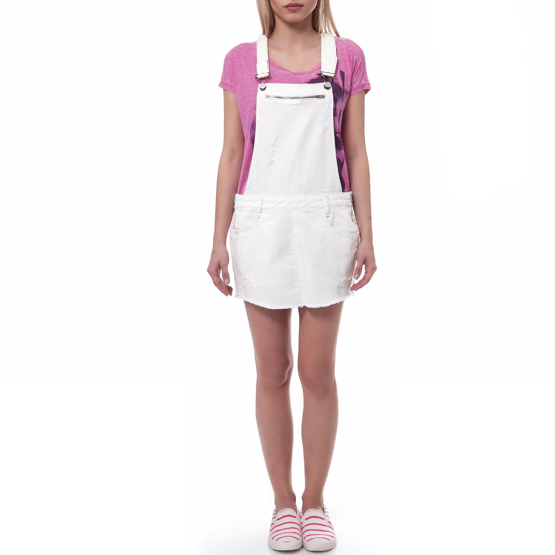 GUESS - Γυναικεία σαλοπέτα Guess λευκή γυναικεία ρούχα ολόσωμες φόρμες