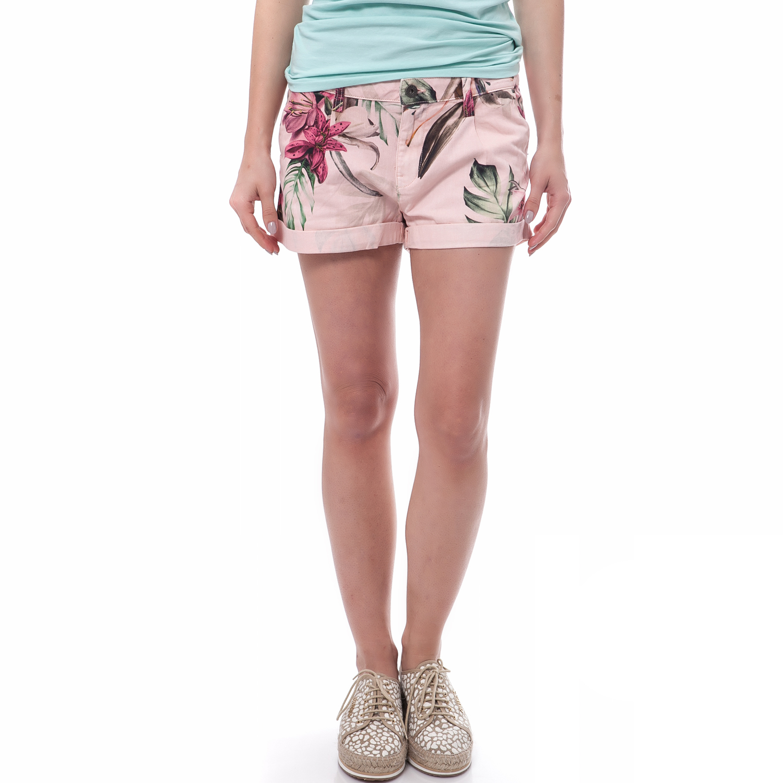 c3cdb1514f1c GUESS - Γυναικείο μίνι φόρεμα Guess SHADIA - ANIMAL JACQUARD ροζ ...