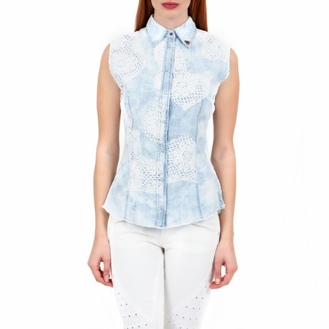 c77fd00db6d8 Γυναικείο πουκάμισο GUESS μπλε-λευκό (1367415.0-9112)