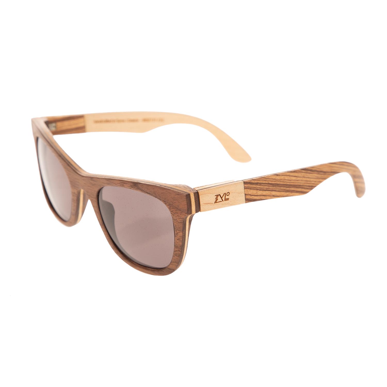 ZYLO - Unisex ξύλινα γυαλιά ηλίου ZYLO WAVE WALNUT AND ZEBRA...