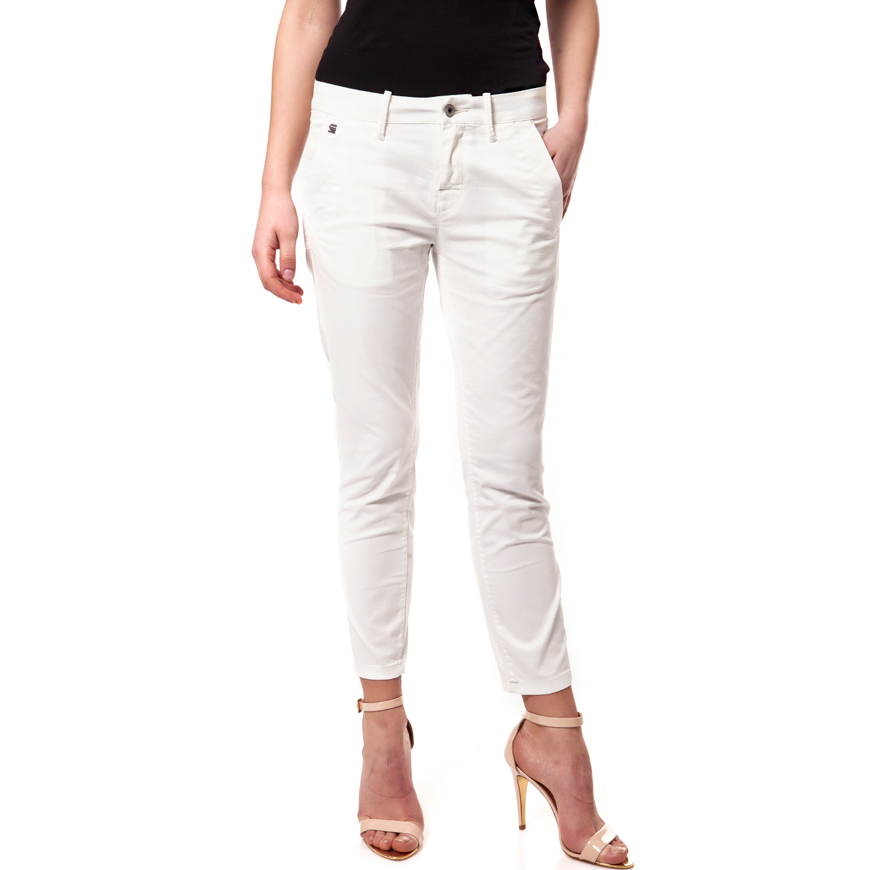 G-STAR RAW - Γυναικείο παντελόνι G-Star Raw λευκό γυναικεία ρούχα παντελόνια chinos